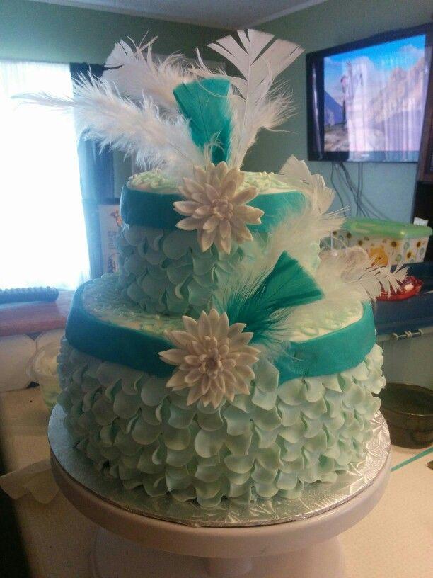 2 layer frill cake