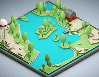 "Check out new work on my @Behance portfolio: ""Low-poly ""Grassland"""" http://on.be.net/1N9ued4"
