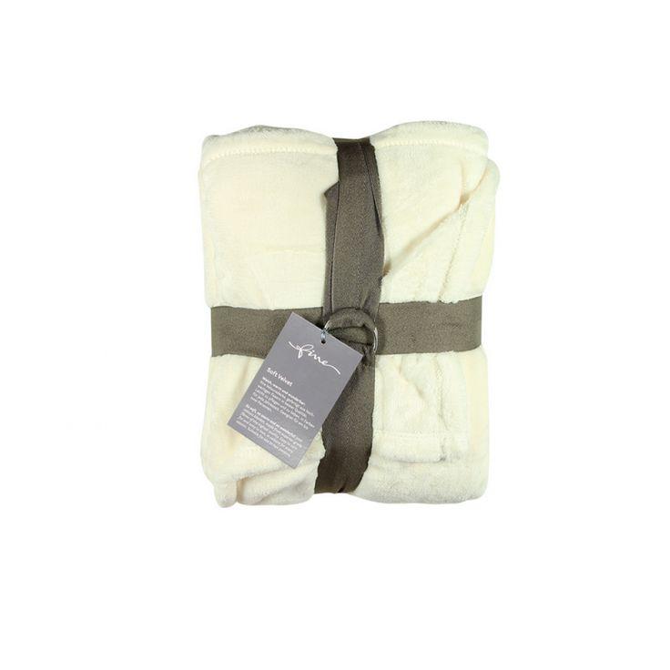 Manta Soft Velvet Branca