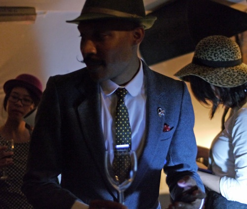 On my way to get some more wine| Shaun Gordon Debut Tie Launch on Thursday 28 February 2013. Photography by Norman J Sealy.