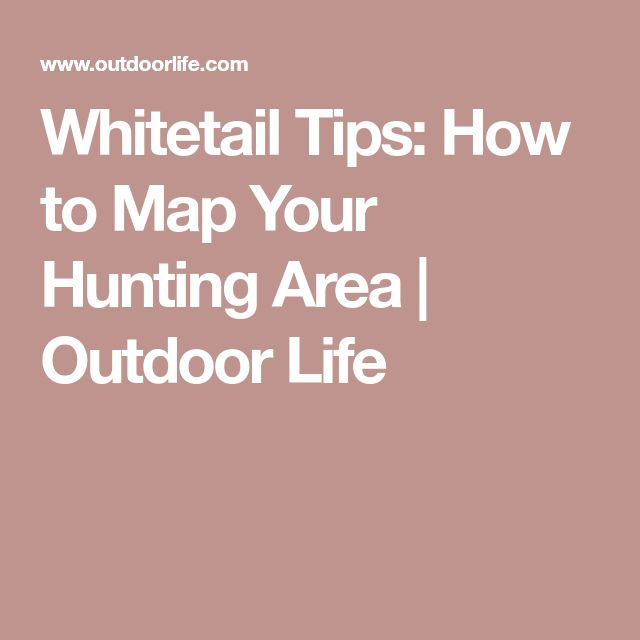 Whitetail Tips: How to Map Your Hunting Area | Outdoor Life
