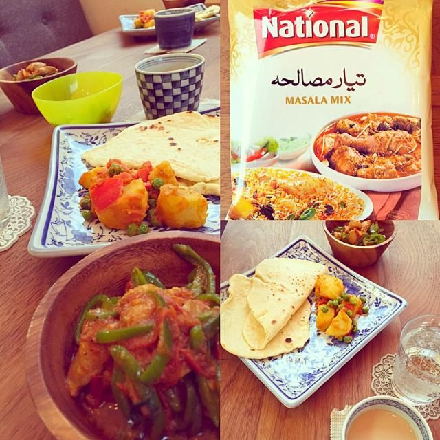 パキスタン料理を作る会にてチキンカラヒ、じゃがいものサブジ、チャパティ、マサラチャイを作りました! パキスタンのマサラミックスを使用。さすがに本場のスパイスは効く〜!ウマ辛い(*^^*) 次はkoftaとビリヤニ作ってみたい! - 9件のもぐもぐ - パキスタン料理の会 by suppy