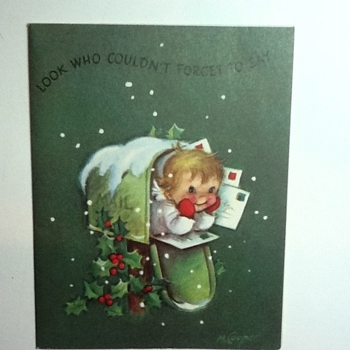 A370 Vintage Marjorie M Cooper Xmas Greeting Card Angel in Mailbox | eBay