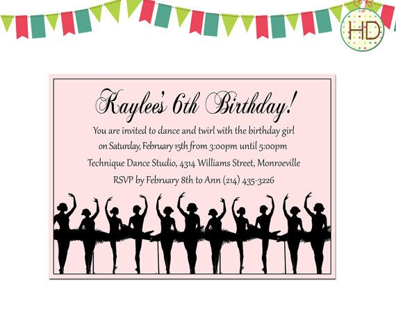 141 best kids birthday invitations images on pinterest kid ballerina birthday invitation ballerina dance by pixieinkprints filmwisefo