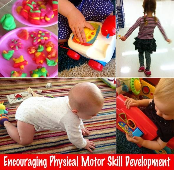 Why physical fine and gross motor skills are important to child development and suggestions for playfully encouraging their development.