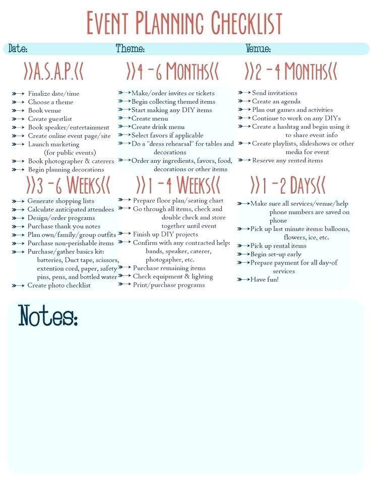 Event Planning Business Checklist