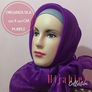 Jual Beli Hijab Kerudung Jilbab Segi Empat Organza Silk |  Bukalapak