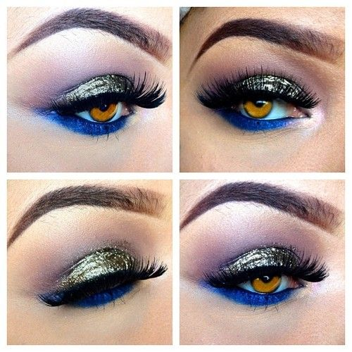 To acquire How to blue wear and gold eyeshadow picture trends