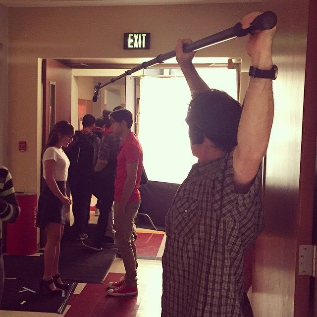 scottspicz 6 minutes ago End of my reach! #setlife #glee #boomoperator#nevertired
