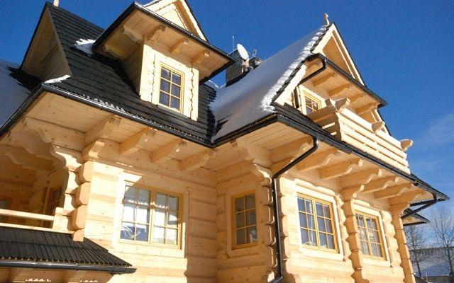 Wooden Row houses in Zakopane