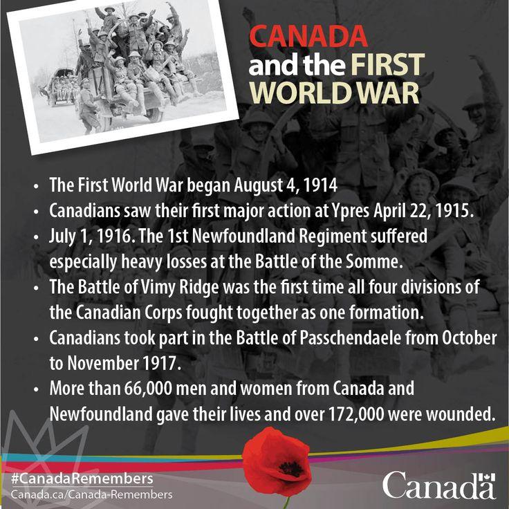 More than 650,000 men & women from Canada & Newfoundland served during the First World War.   https://twitter.com/VeteransENG_CA
