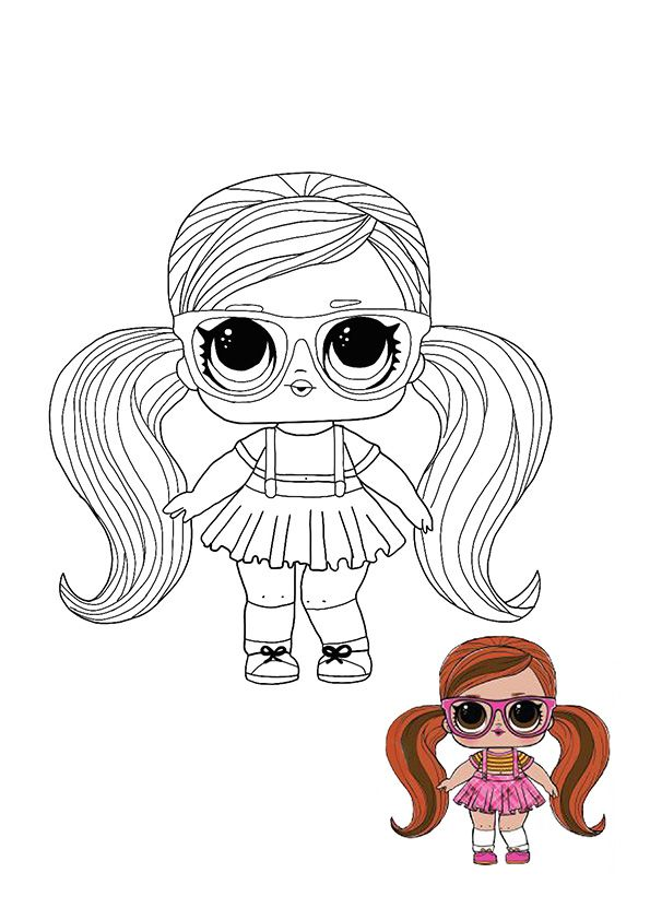 Lol Surprise Hairvibes Peanut Buttah Coloring Page In 2020