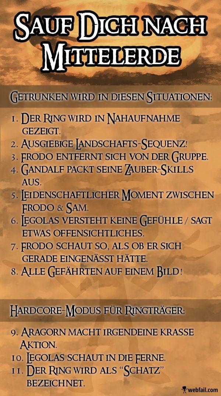Bildergebnis Fur Herr Der Ringe Trinkspiel Trinkspiel Trinken Herr Der Ringe