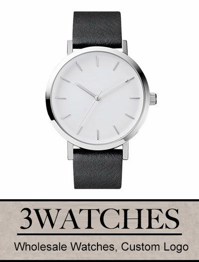 Thehorse Wholesale Watches. Custom Logo. Polished Steel / Black Leather. Visiting: http://www.3watches.com/horse-watch/