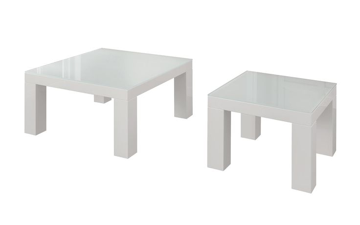 The modern coffee table features a straightforward design.