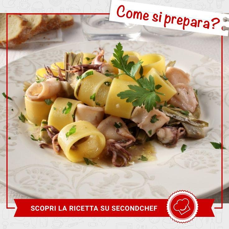 Questa domenica vuoi cucinare un piatto degno di un ristorante? Prova la nostra Calamarata con totani! Scopri come ricevere la #ricetta e gli ingredienti su rebrand.ly/calamaratacontotani  #Second_Chef #incucinaconsecondchef #lericettedisecondchef