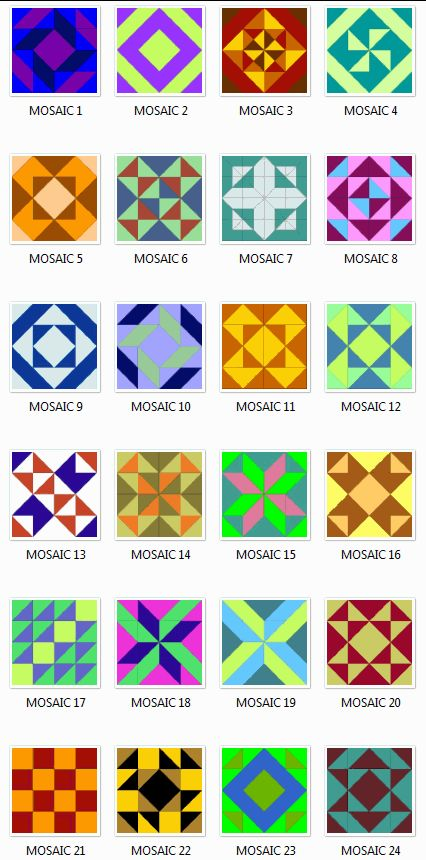 Free Mosaic Patterns and Designs | Mosaics Quilt Block Patterns
