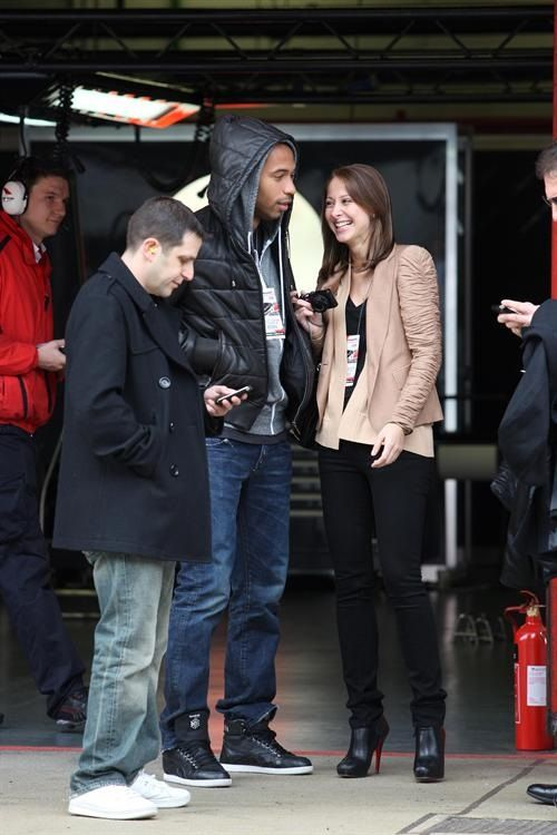 Fast Lane Fans: Thierry Henry and Andrea Rajacic « Kickette.com – Soccer/football gossip, hot players, WAGs that love them