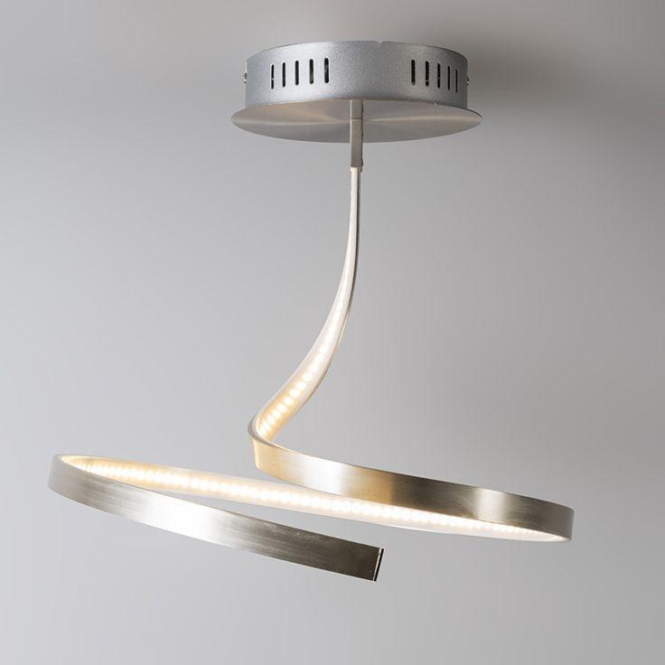 Plafond 'Kink 1' Moderna aluminium - LED inkluderat / Inomhus