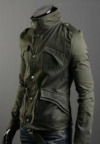 Not army issue but still bad-ass A classic in any guy's wardrobe- gamer or not. Your classic military jacket that can be thrown over a tee for a laid back look, or layered over a shirt in case you hav