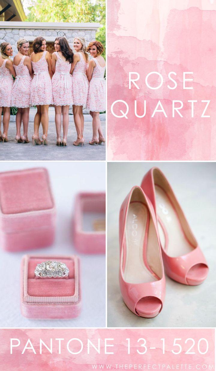 Pantone - Rose Quartz 13-1520 | pink wedding | www.endorajewellery.etsy.com