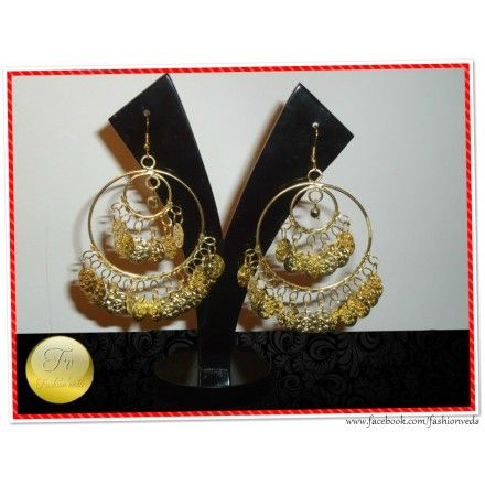 Classic Golden Sikka Earrings  	Material- Gold Metal Alloy  	Color- Golden  	Care- Protect from moisture.  	Storage- Keep in an airtight pouch.