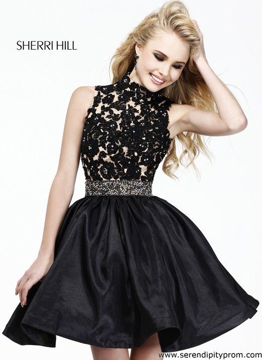 Prom Dress of the Day: Short Black Sherri Hill Prom Dress - http://prombelles.com/2013/05/13/prom-dress-of-the-day-short-black-sherri-hill-prom-dress/