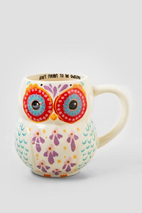 cute/funny/unique mugs  Be Awesome Owl Ceramic Mug $15.00