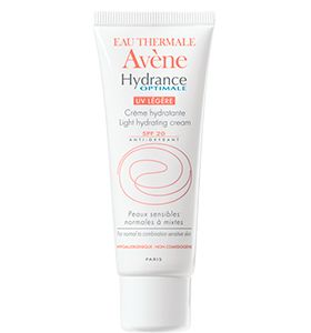 La crema #Avène #Hydrance Optimale ligera SPF 20 es una crema de día que hidrata y protege del sol. Está indicada para pieles sensibles mixtas y con tendencia grasa. Te previene del envejecimiento y sentirás tu piel más flexible, suave e hidratada con un acabado mate.