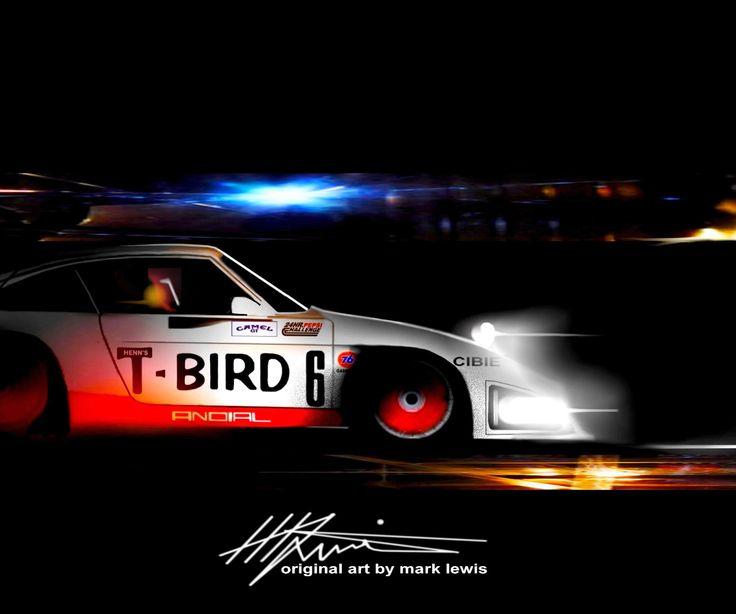 """SUPER SUB"" AJ Foyt fills in for Preston Henn in the Swap Shop Porsche 935 in the 1983 24 Hours of Daytona.    Original Art by MLewis"