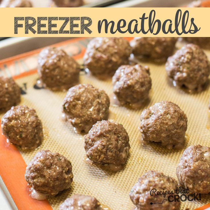 Homemade Frozen Meatballs from Recipes that Crock