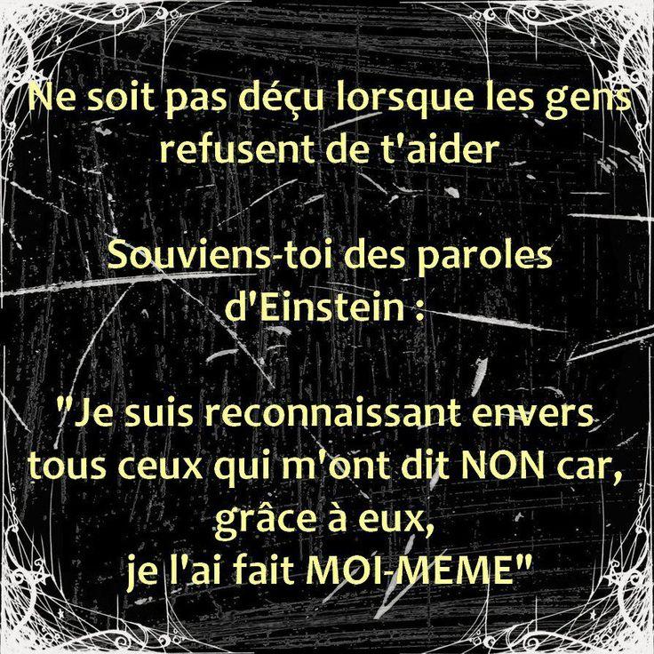 Citations et Panneaux Facebook à partager: Citation d'Einstein