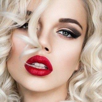 макияж, красивый мейк ап, косметика, помада, макияж глаз, макияж губ, красная помада
