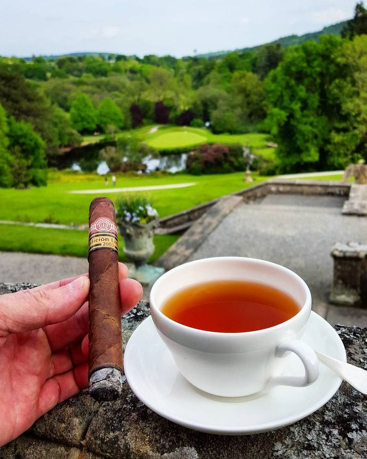Smoked afternoon tea with my lovely love @spezielle. Life is good.  #smoke #cigar #montecristo #edicionlimitada #2003 #well_stored #smoked_tea #afternoontea #hightea #fiveoclocktea #edición_limitada #boveycastle #north_bovey #northbovey #dartmoor #nationalpark #hotel #moor #woods #forest #natur #old_architecture #England #UK #devon #happy #together #with_my_love by spezieller