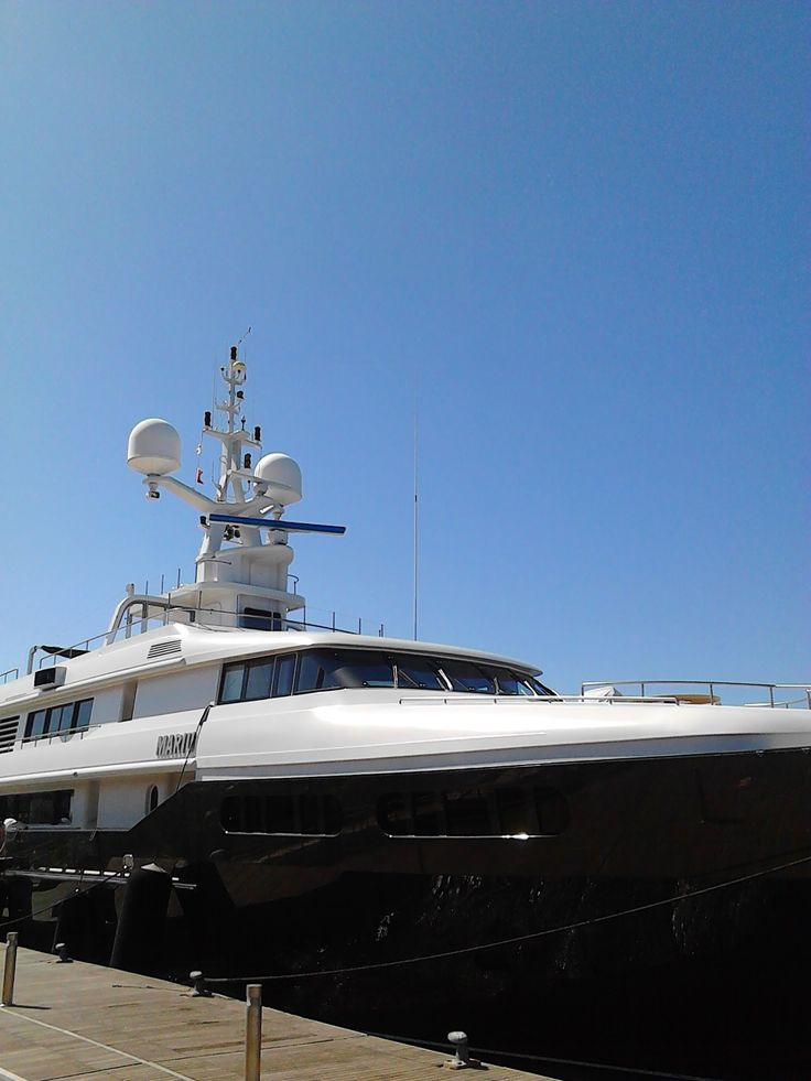 #mariu #codecasa #superyacht #portodicagliari #molodogana #cagliari #Island #sardinia #italy Length 49.90m / 164ft Beam 9.50m / 31ft Draft 3.40m / 11ft Year Built 2003 Exterior Designer Codecasa Builder Codecasa Hull Steel Classification Lloyd's Register Cabins total 6 Cabins Cabins 1 Master, 1 VIP, 4 Double, Guests 12 Crew 12 Max. Speed 17.5 Knots Cruising Speed 15 Knots