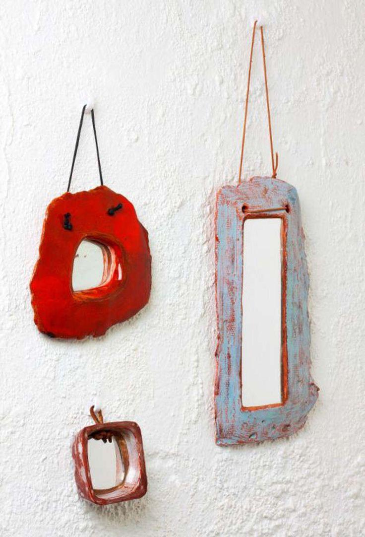 Set of ceramic  mirrors by Juliette Derel image 2