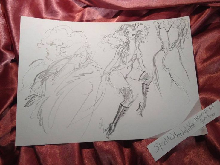 © LaLaVox - www.lalavoxbox.com - Performers in motion - sketched at the premier of Le Pustra's Kabarett der Namenlosen at Ballhaus Berlin (March 3rd, 2016) https://www.facebook.com/KabarettderNamenlosen/