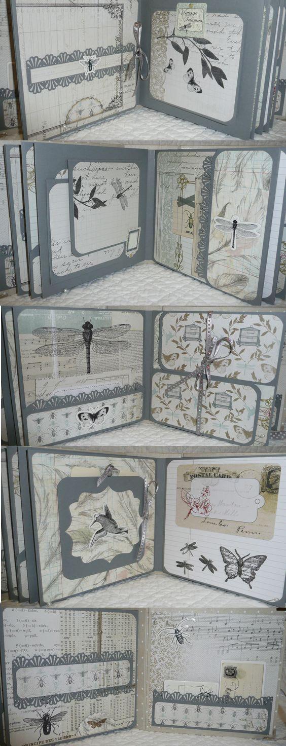 mini album: cabinet de curiosités papier toga