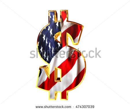 3D illustration. Dollar sign symbol on a white background