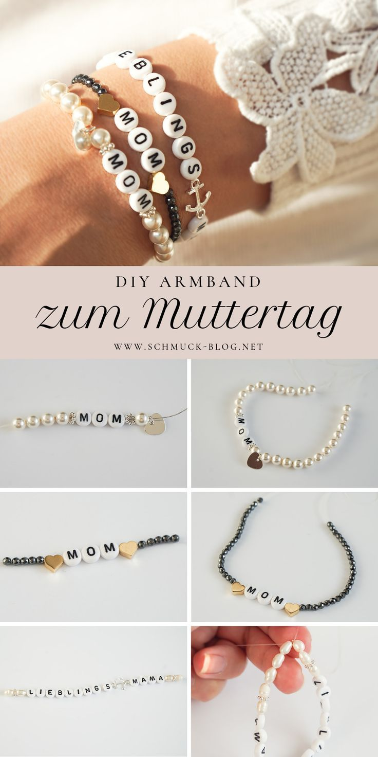 DIY Armband zum Muttertag – MOM Armband