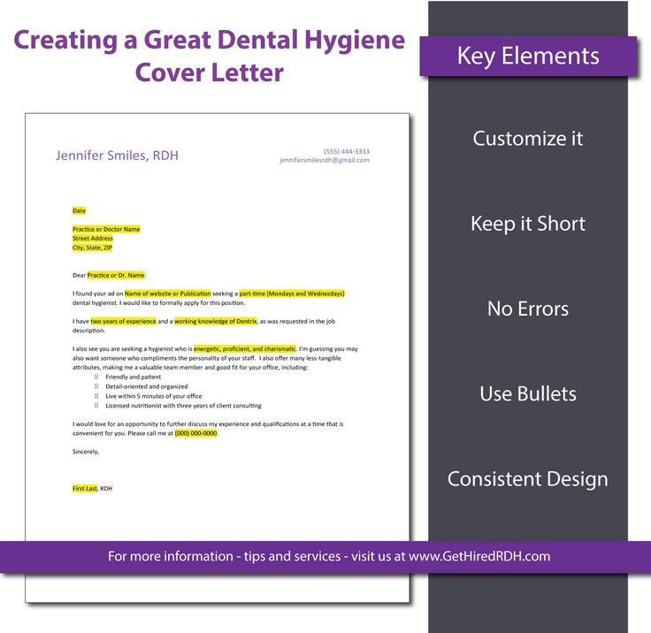 127 best Dental Inspiration images on Pinterest Dental hygienist - dentist cover letter