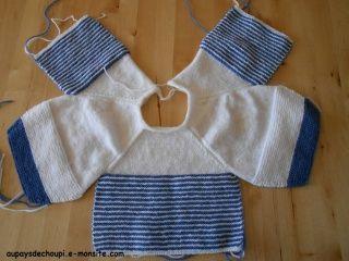 comment tricoter une brassiere de bebe