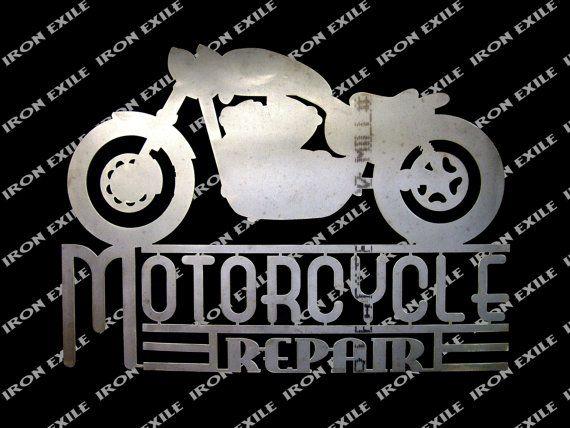 Chopper moto réparation Vintage Bobber Cafe Racer par IronExile