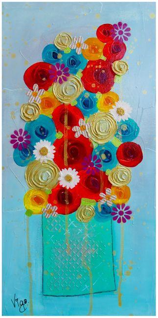 Vigo, Flower painting, Galeries d'art Le Bourget, Le Luxart et Émeraude