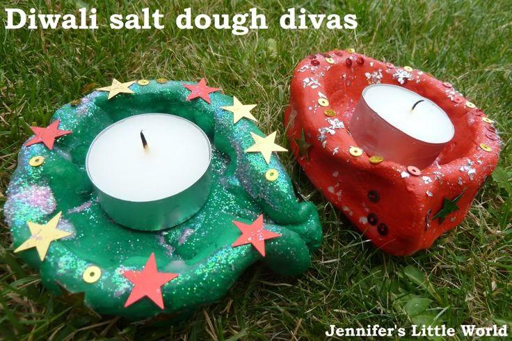 Jennifer's Little World blog - Parenting, craft and travel: Diwali craft - How to make a simple salt dough diva for Divali