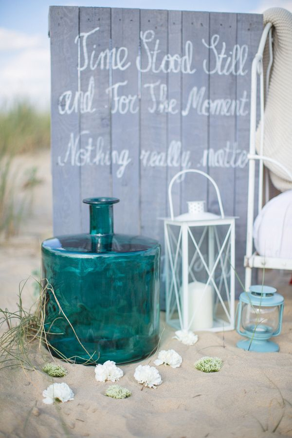Turquoise Jar Decoration For Outdoor Beach Wedding #turquoise  #turquoisewedding #wedding #weddingdecor #