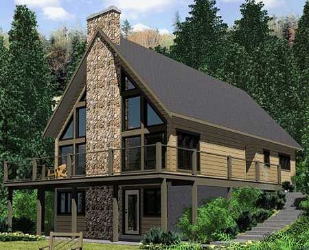 Architectural Designs A Frame House Plan 67711MG Has A Beautiful  Wrap Around Deck To