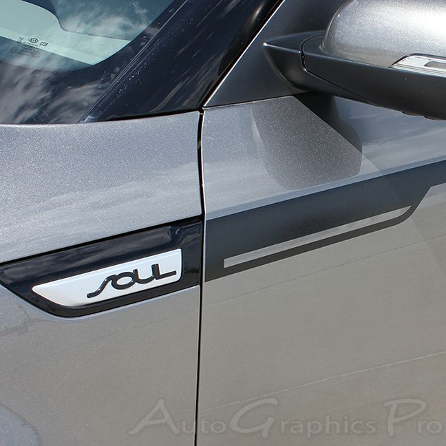 "2014 - 2015 Kia Soul ""ENSOUL"" Side Vinyl Graphics Decals Stripes"