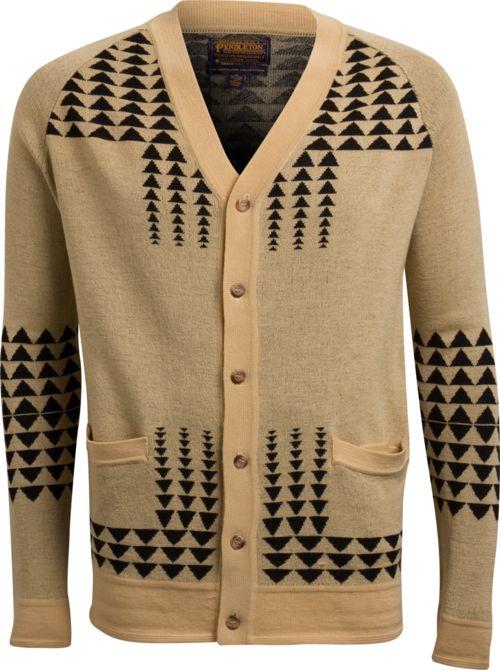Pendleton: Cardigans, Portland Collection, Benches, Pendleton Portland, Cardigan Sweaters, Triangles Cardigan, Loom, Arrow Cardigan