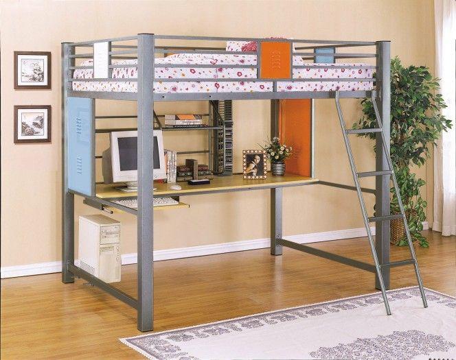 teen trends study loft bunk bed interior design home decor furniture beds